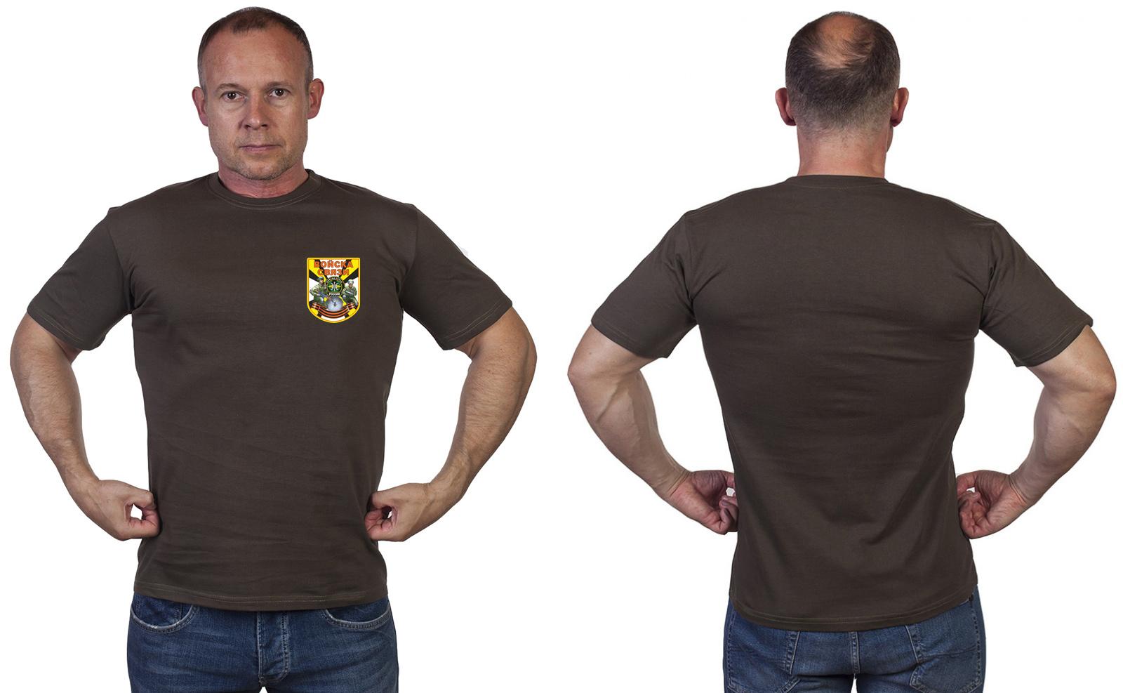Оливковая футболка Войска связи