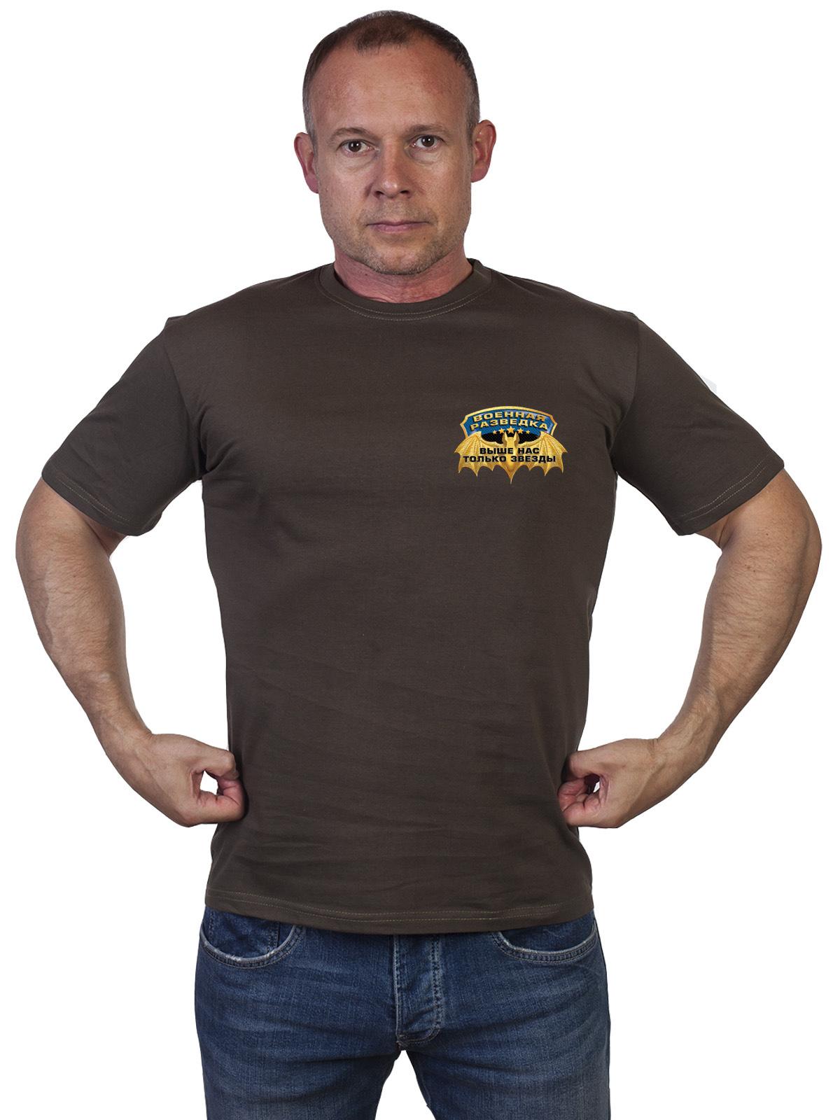 Недорогие однотонные футболки Военной Разведки