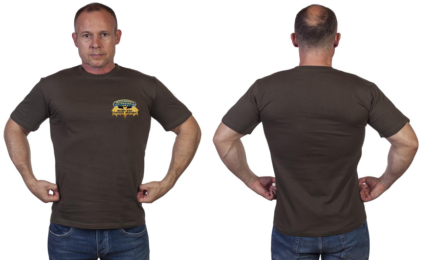 Мужская оливковая футболка Разведка