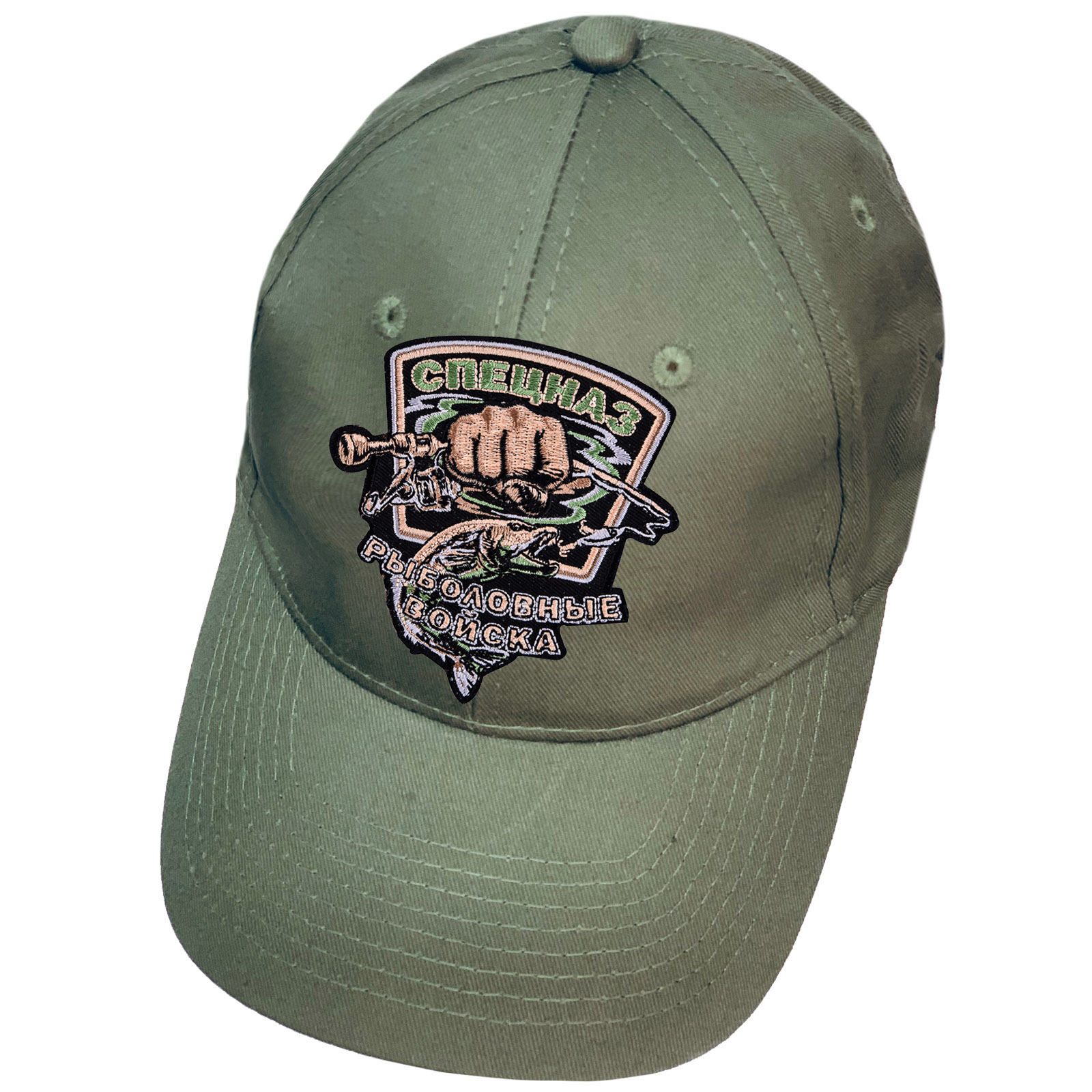 Оливковая кепка-бейсболка рыболова