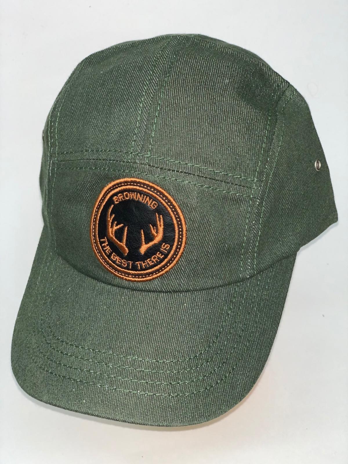 Оливковая кепка-пятипанелька Browning