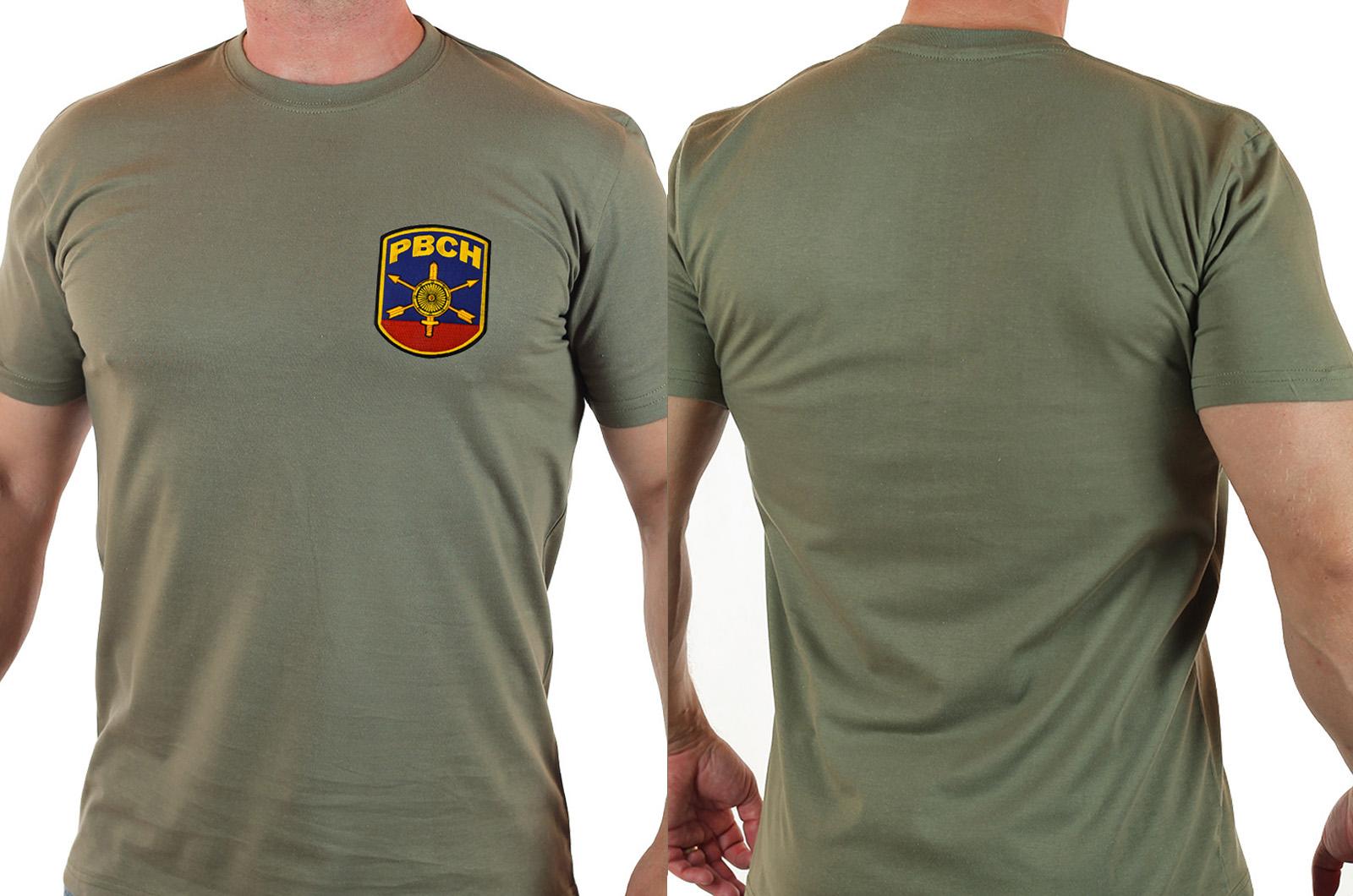 """Оливковая мужская футболка """"РВСН"""" с удобной доставкой"""