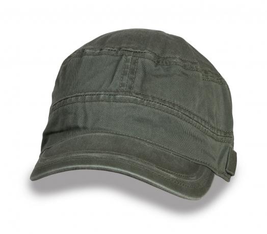 Оливковая мужская кепка-немка