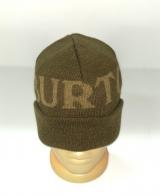 Оливковая шапка с крупной надписью
