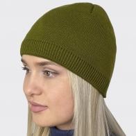 Оливковая женская шапочка