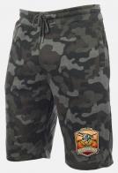Оливковые камуфляжные шорты с нашивкой Русская Охота