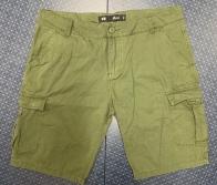 Оливковые мужские шорты Denim CO