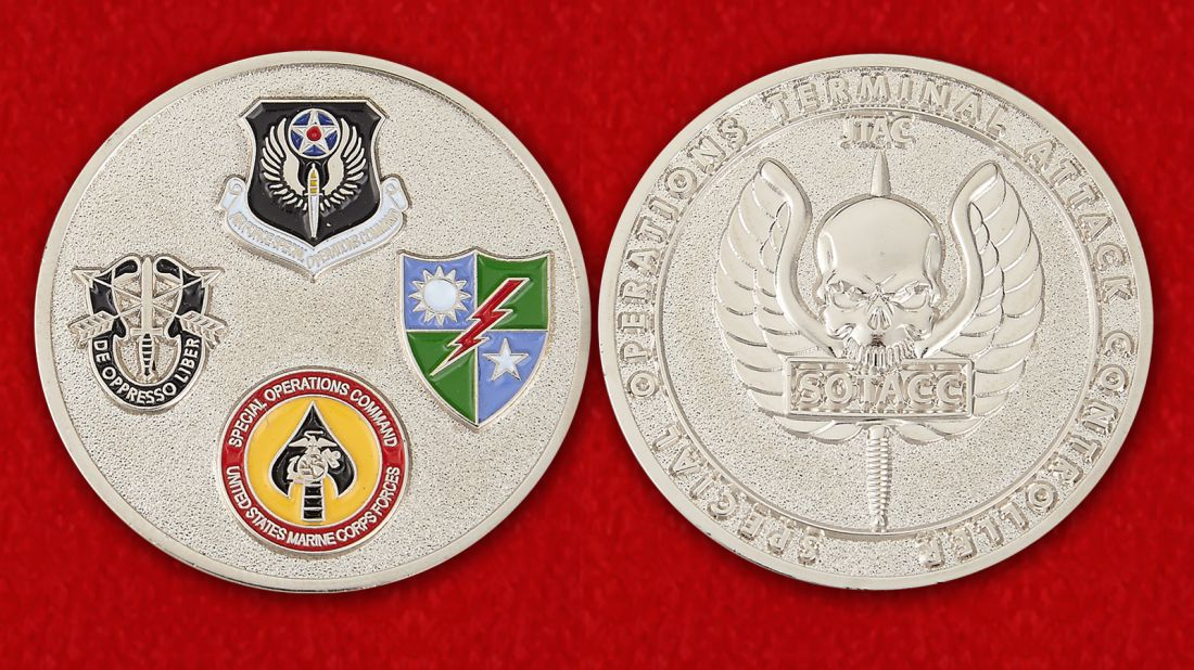 Operations Terminal Attack Controller Challenge Coin - obverse and reverse