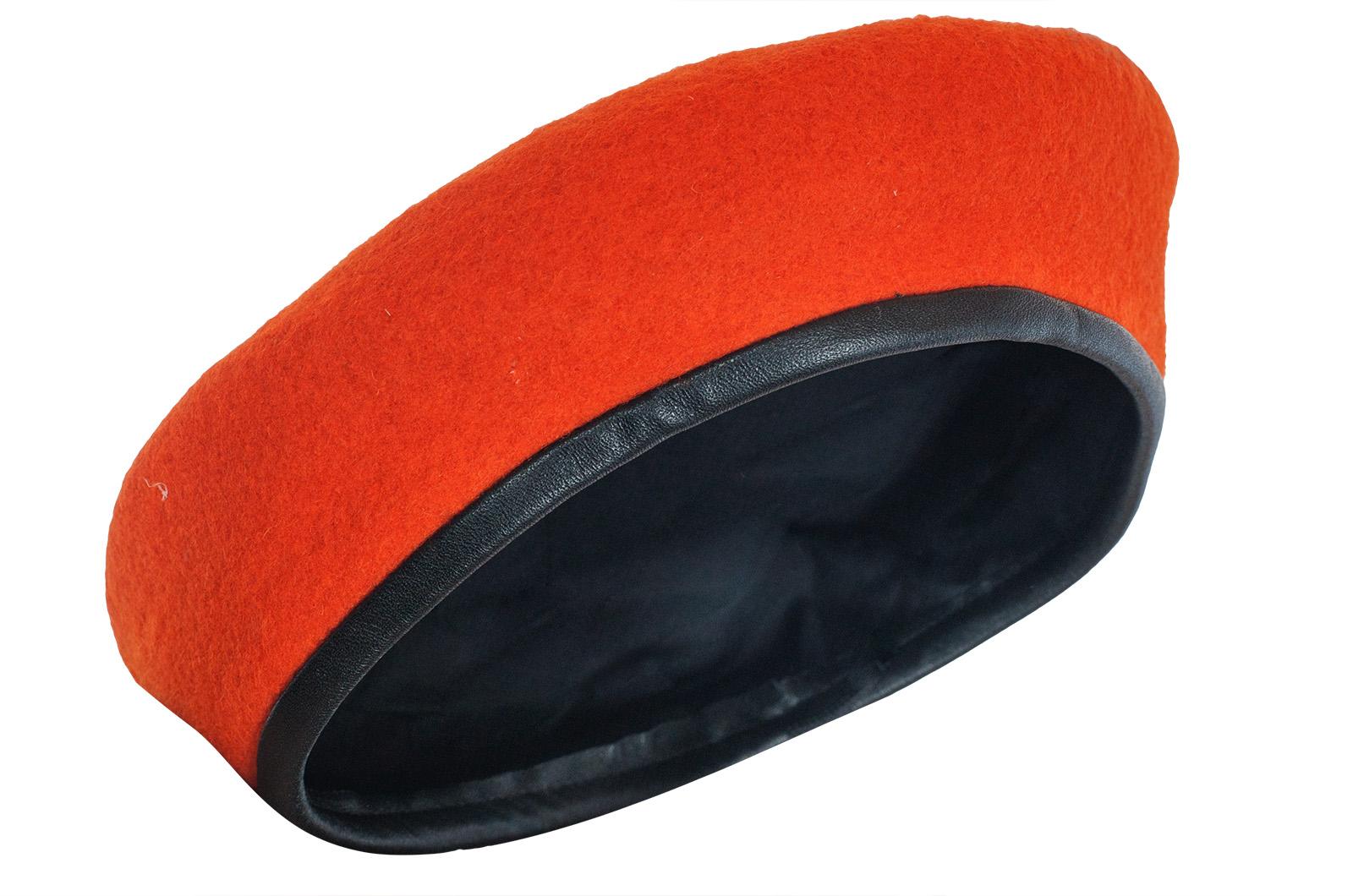 Оранжевый берет МЧС от производителя | Купить фетровые шерстяные береты МЧС оптом и в розницу по низкой цене