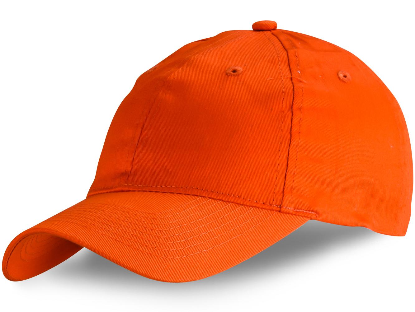 Оранжевая бейсболка - купить в интернет-магазине с доставкой