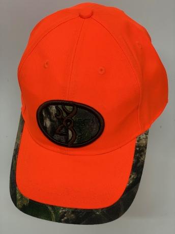 Оранжевая бейсболка Browning с камуфляжной нашивкой и каймой