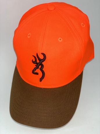 Оранжевая бейсболка Browning  с коричневым козырьком