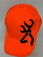 Оранжевая бейсболка Browning с крупной черной вышивкой