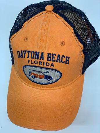 Оранжевая бейсболка Daytona Beach с черной сеткой