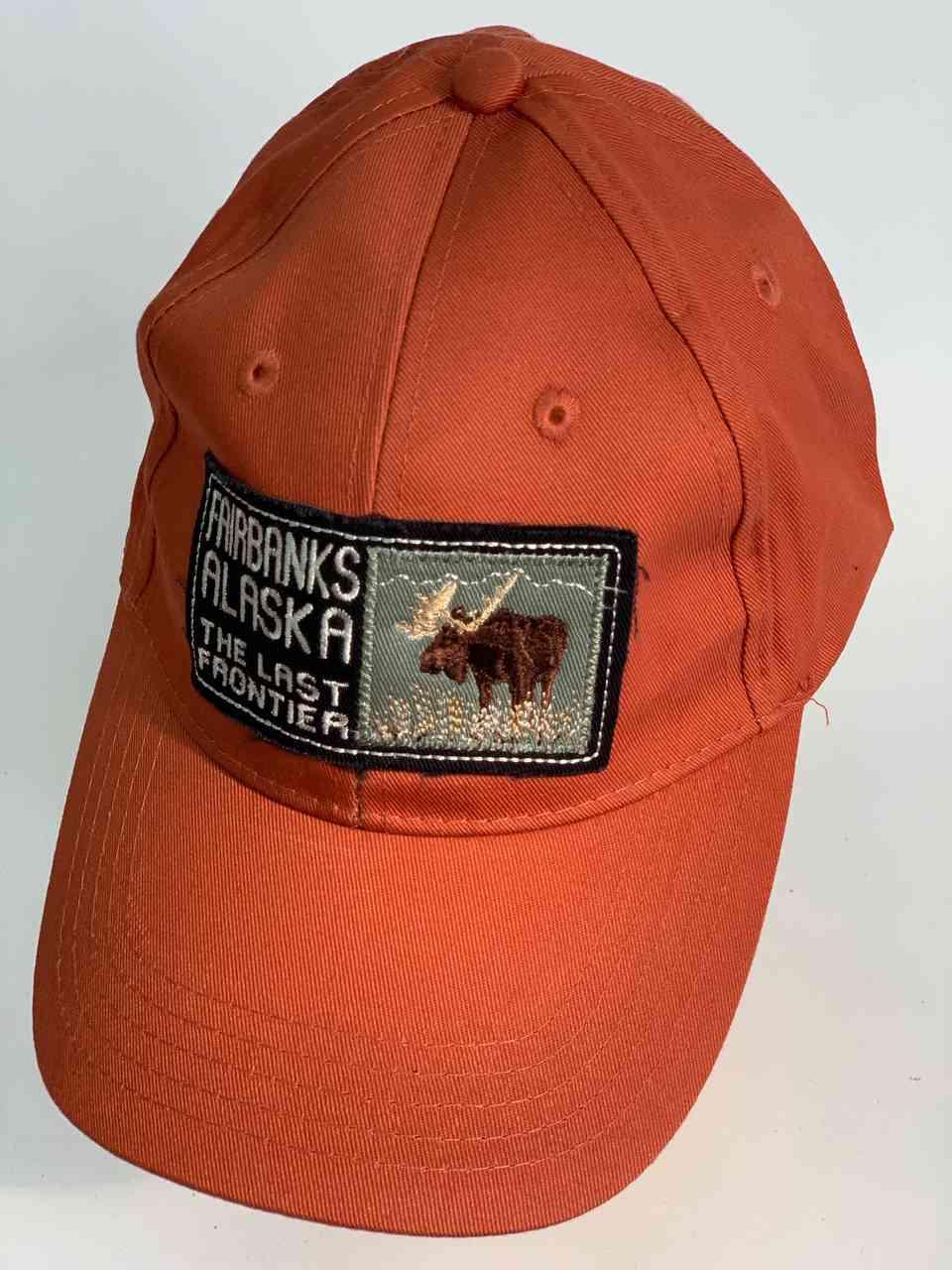 Оранжевая бейсболка FAIRBANKS ALASKA