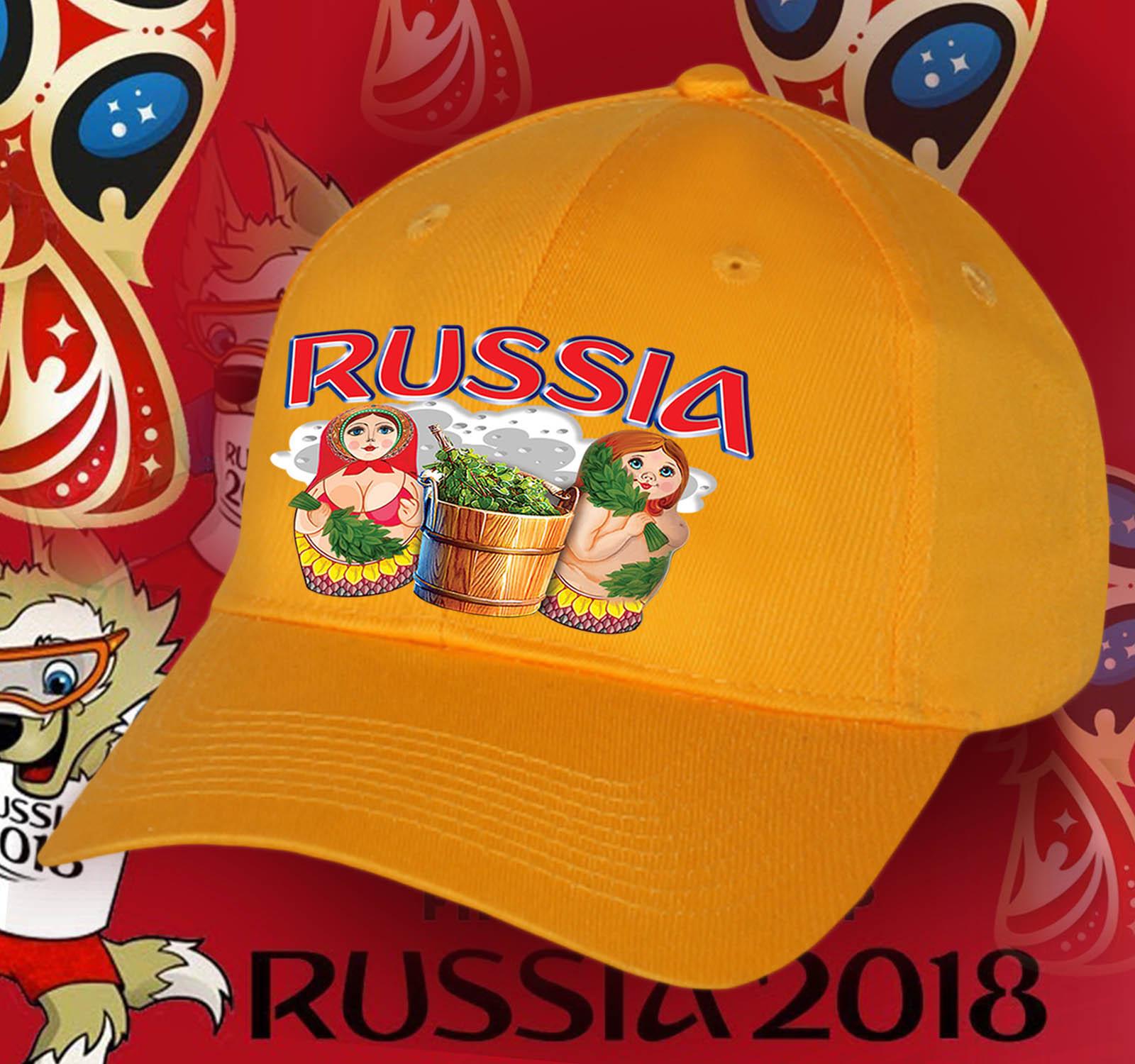 Оранжевая бейсболка МАТРЁШКИ