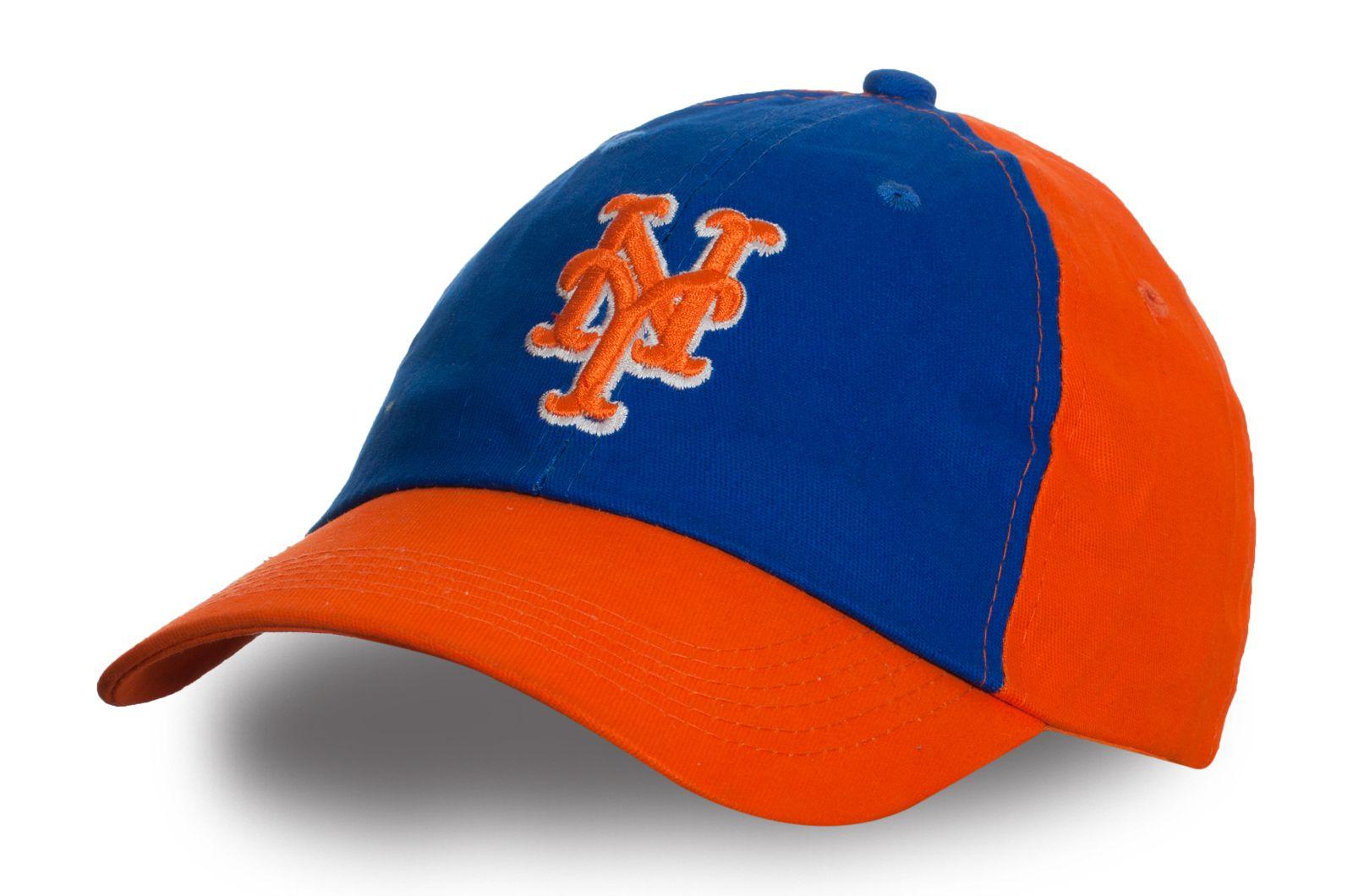 Оранжевая бейсболка NY | Купить брендовые бейсболки