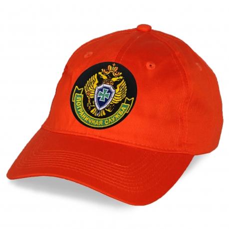 """Оранжевая бейсболка с вышивкой """"Пограничная служба"""""""