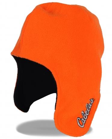 Оранжевая флисовая глубокая мужская шапка Cabelas®. Купи и пусть она тебя согреет в морозные холода на охоте