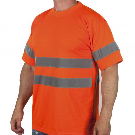 Оранжевая футболка со светоотрожающими полосами