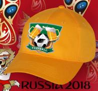 Оранжевая футбольная кепка Football