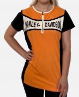 Оранжевая женская футболка Harley-Davidson
