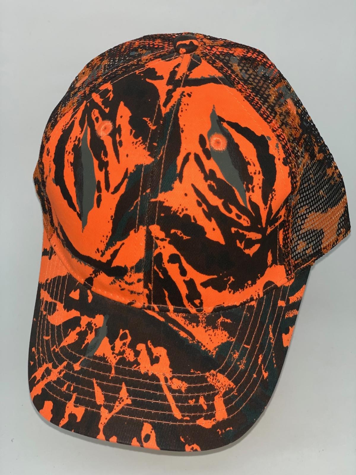 Оранжевая камуфляжная бейсболка с вентиляционной сеткой