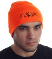 Оранжевая мужская шапка с логотипом RURAL KING