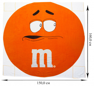 Оранжевая простыня махровая M&M