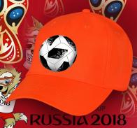 Оранжевая сочная бейсболка с мячом
