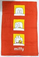Оранжевое банное полотенце с зайкой