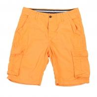 Оранжевые мужские шорты карго.