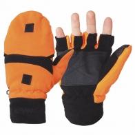 Оранжевые варежки-перчатки из флиса HOT SHOT Thinsulate
