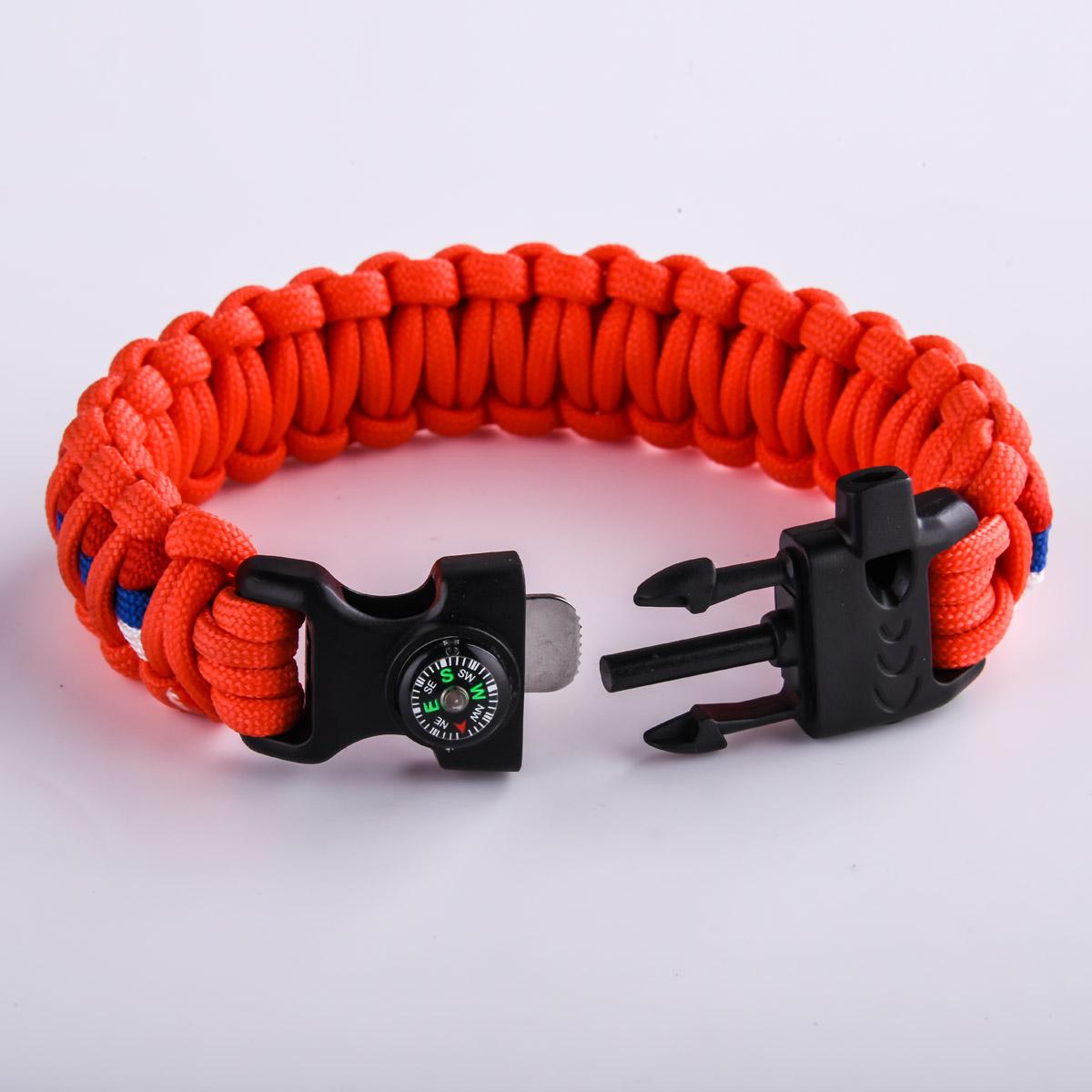 Оранжевый браслет с фастексом