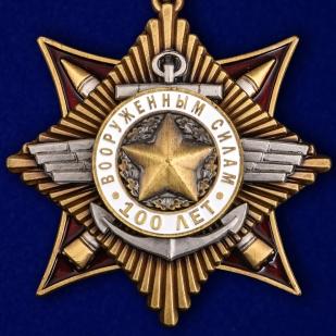 Купить орден 100-летие Вооруженных сил в красивом футляре из бархатистого флока