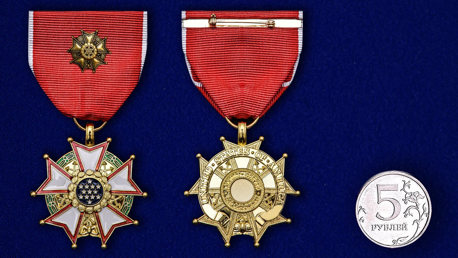 """Орден """"Легион Почета"""" США 3-ей степени - сравнительный размер"""