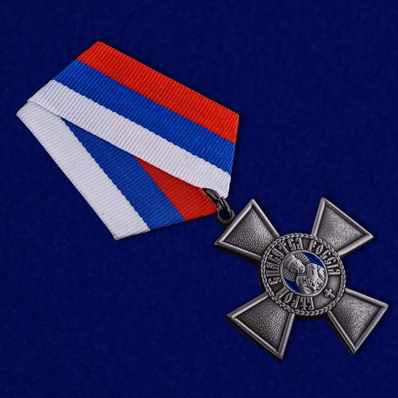 Орден Святителя Николая Чудотворца в бархатистом футляре из флока - общий вид