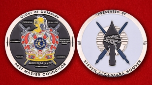 Order Of DeMolay Past Master Councilor By Steven Alcantara Hoover Challenge Coin
