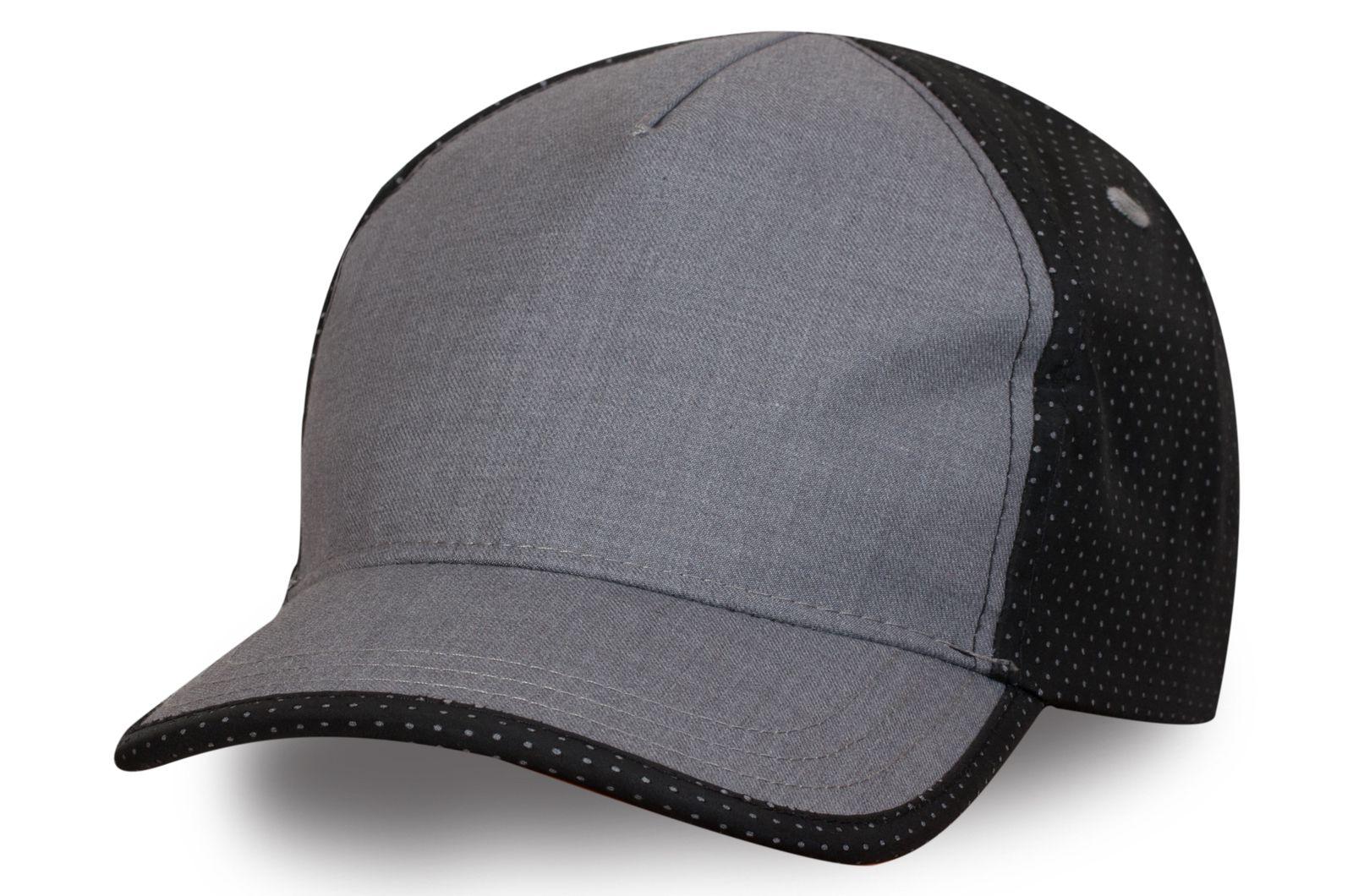 Оригинальная бейсболка серо-черная