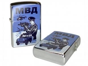 Оригинальная бензиновая зажигалка МВД - купить в подарок