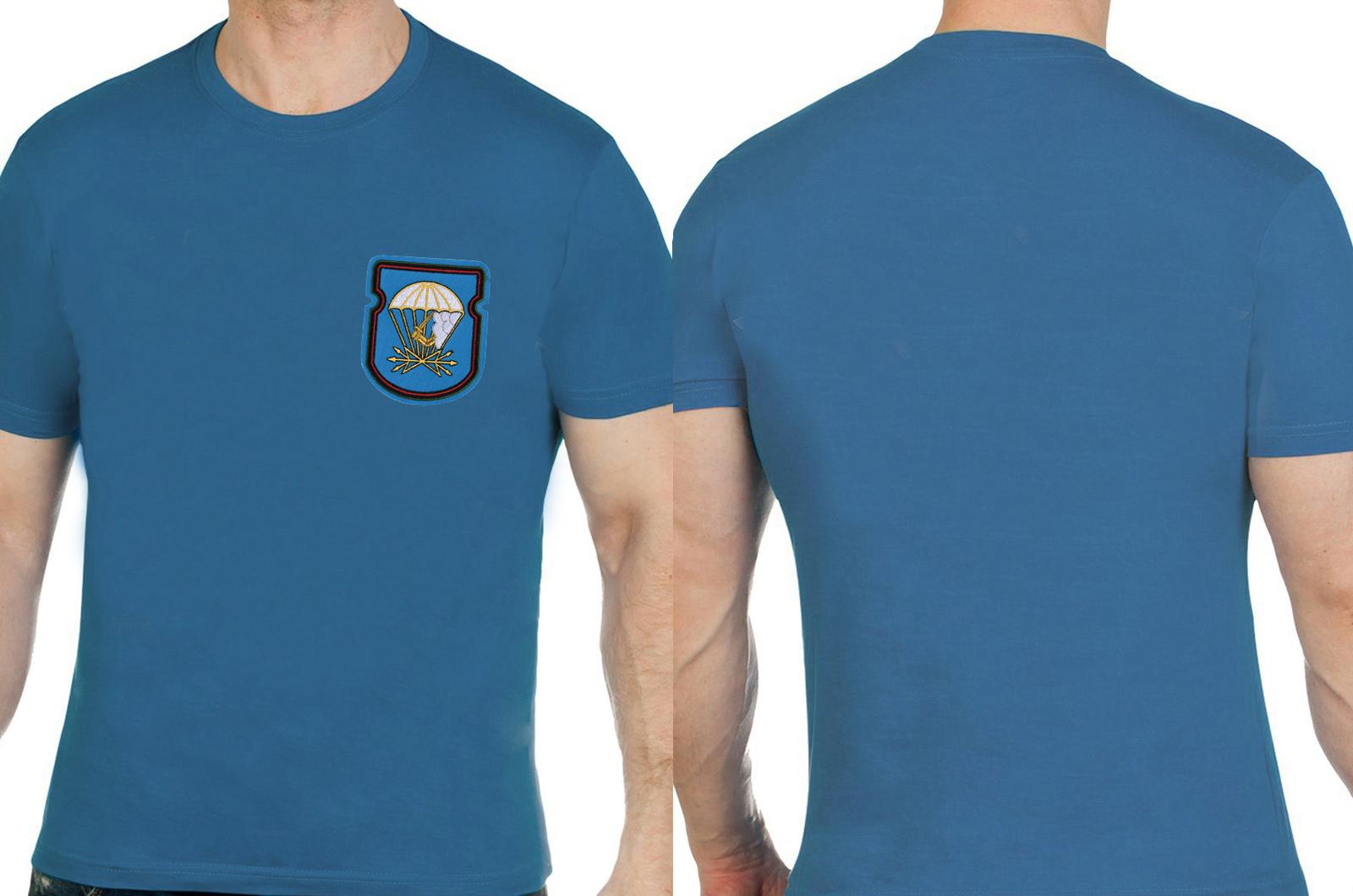 Оригинальная бирюзовая футболка с вышивкой ВДВ - купить в Военпро