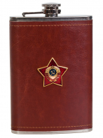 Оригинальная фляжка в чехле для патриота с накладкой СССР