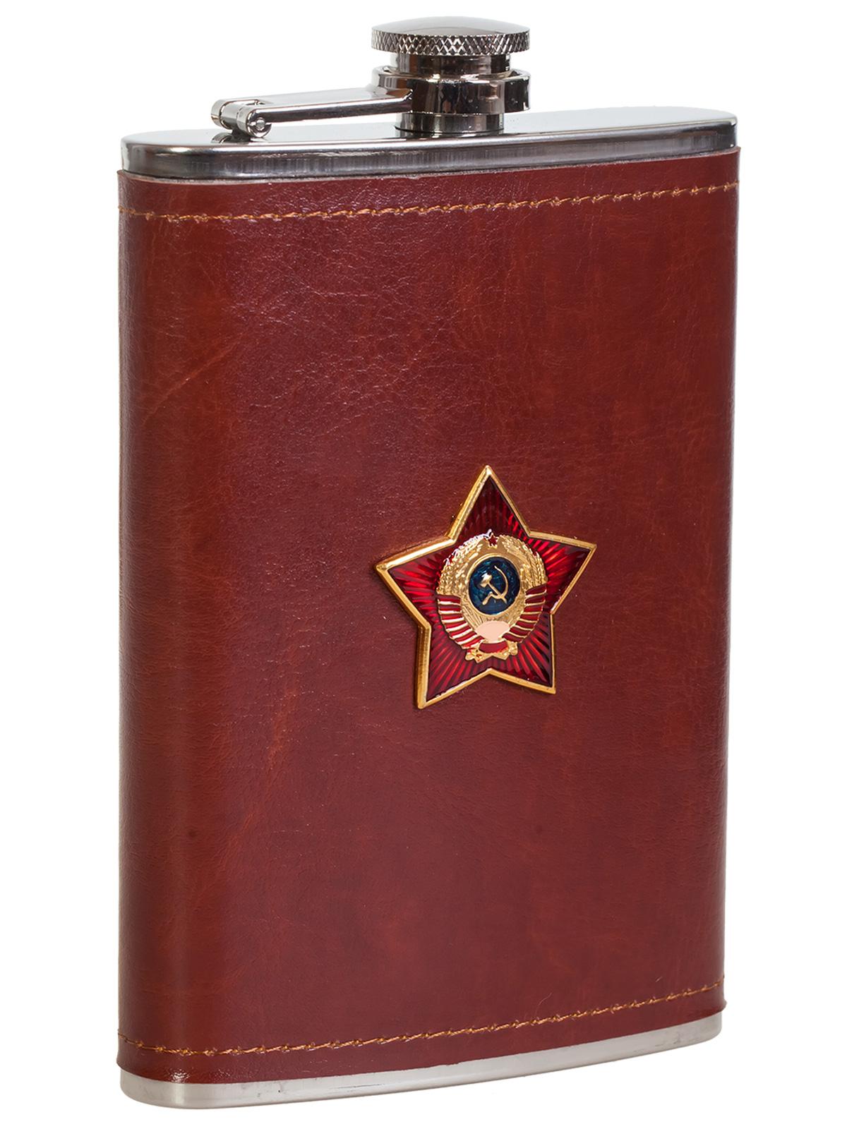 Купить оригинальную фляжку в чехле для патриота с накладкой СССР выгодно с доставкой