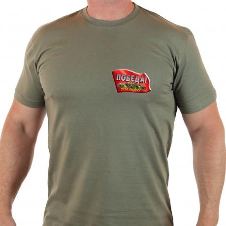"""Оригинальная футболка с термотрансфером """"Победа"""""""