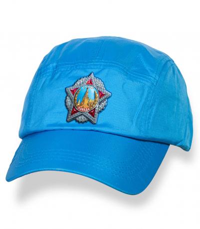 Оригинальная голубая бейсболка с термотрансфером Орден Победы