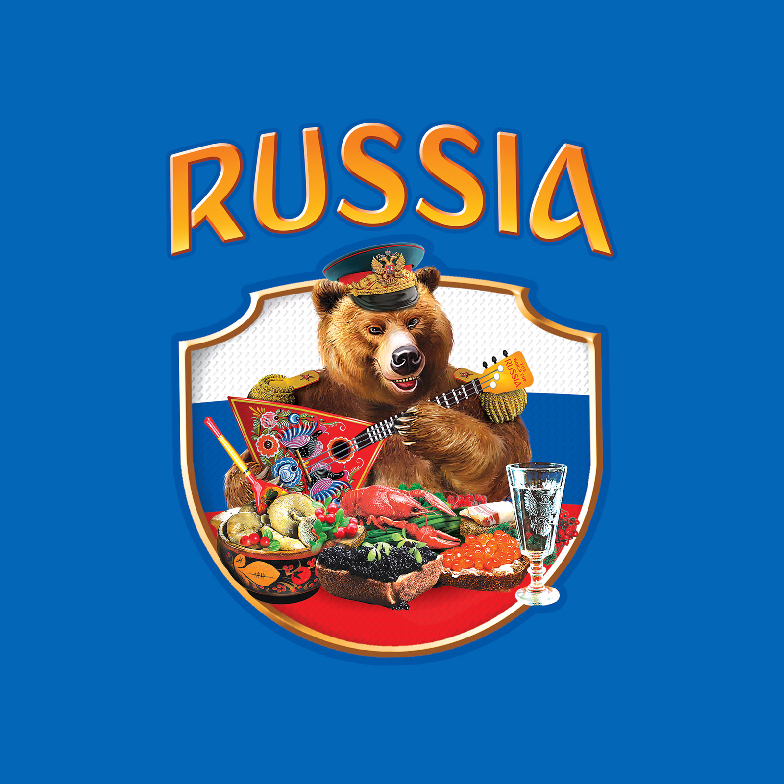 Оригинальная хлопковая футболка РОССИЯ