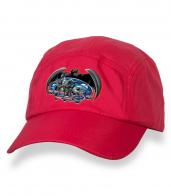 Оригинальная красная бейсболка с термонаклейкой Спецназ ГРУ