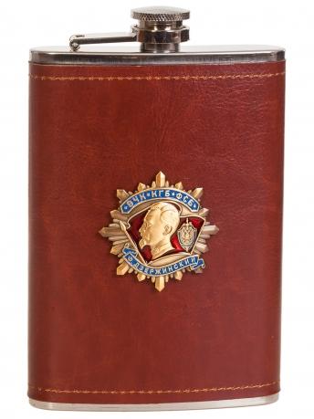 Оригинальная мужская фляжка в чехле с накладкой ФСБ