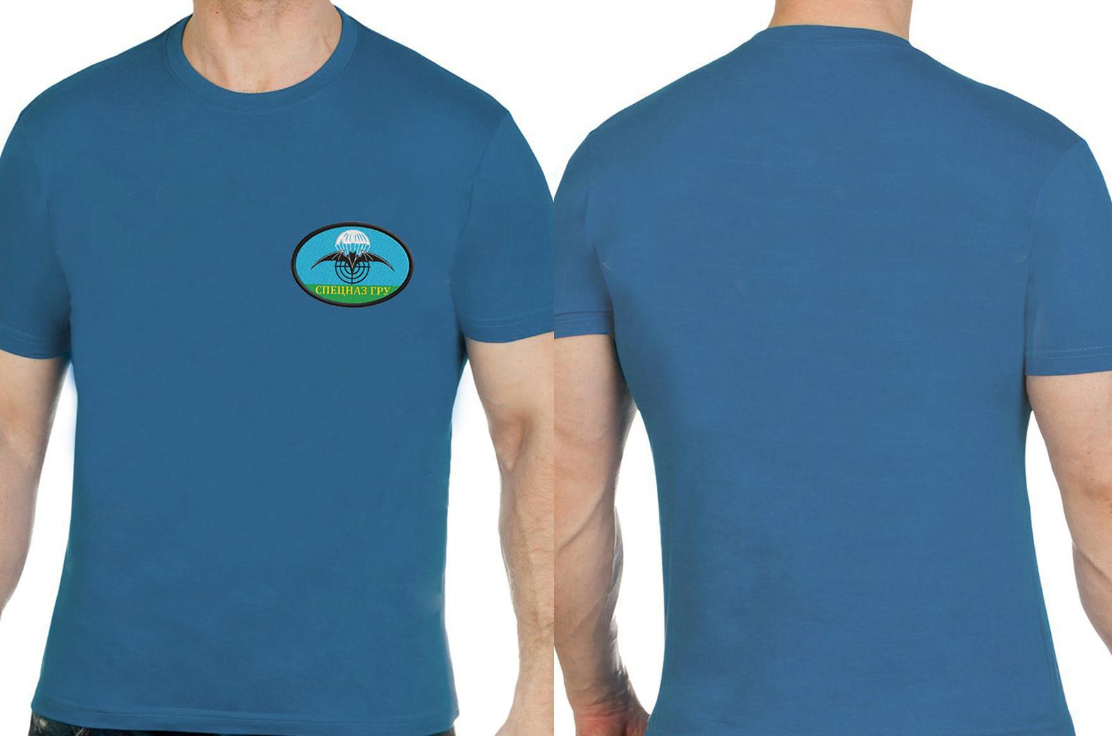 Оригинальная мужская футболка с вышивкой Спецназ ГРУ - купить выгодно