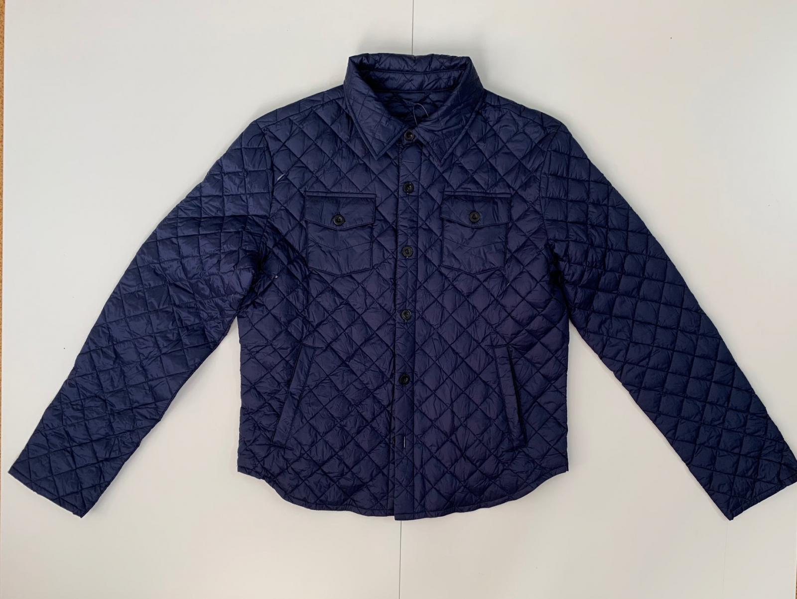 Оригинальная мужская куртка темно-синего цвета